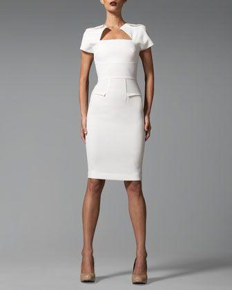 Roland Mouret Myrtha Folded Sheath Dress - Neiman Marcus