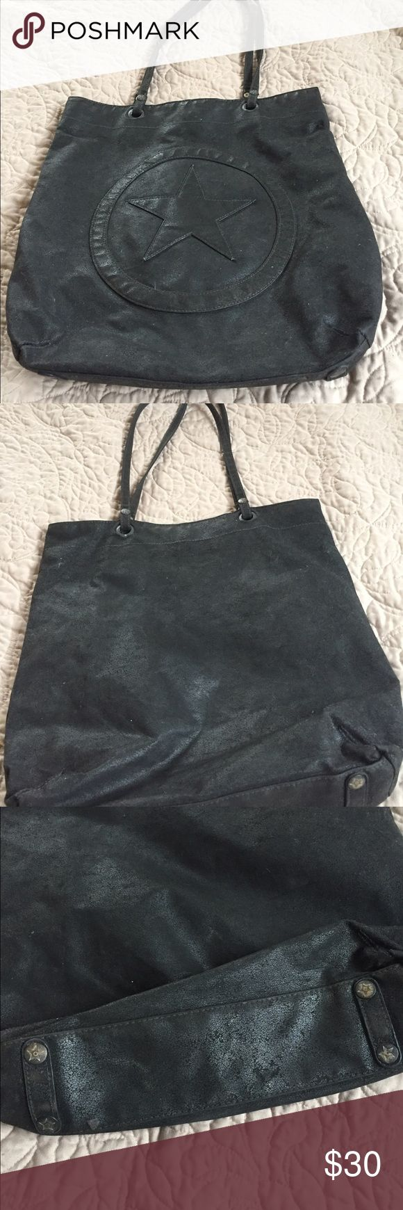 Converse All Star black tote bag. Great bag! Converse All Star black tote bag. Great for books, laptops, iPads, etc. great and roomy bag. Converse Bags Totes