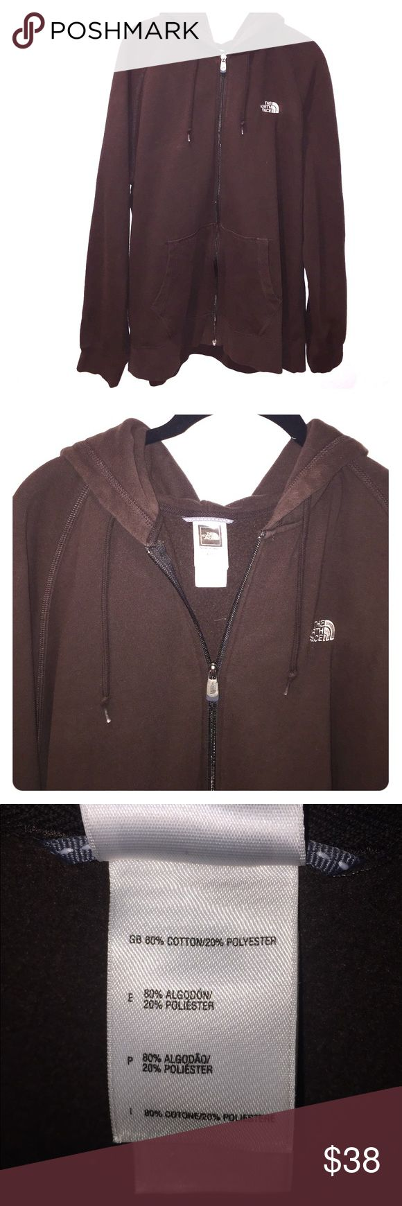 North Face Zip Up Sweatshirt North Face brown zip up sweatshirt. So comfortable! North Face Shirts Sweatshirts & Hoodies