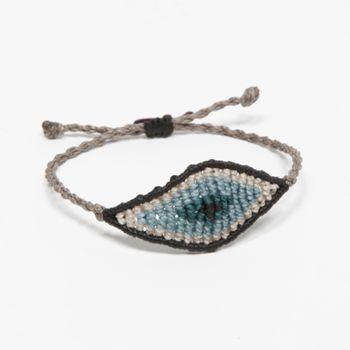 """All seeing eye"" , handmade macrame bracelet by Tatiana Choremi, Www.most-chic.com"