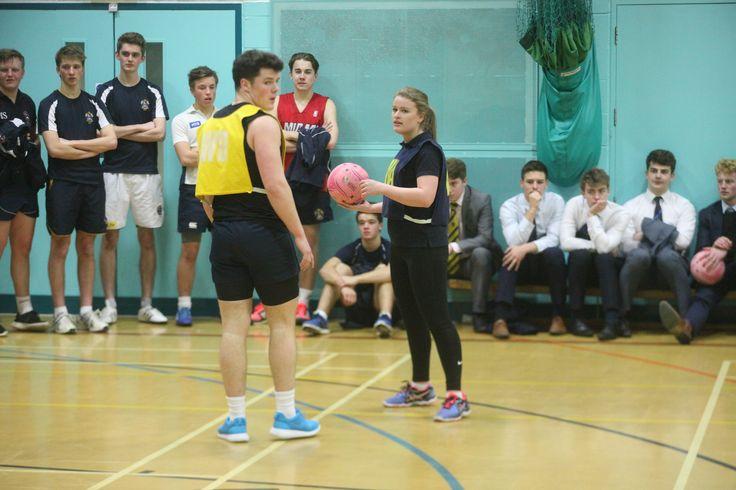 Girls v Boys' netball