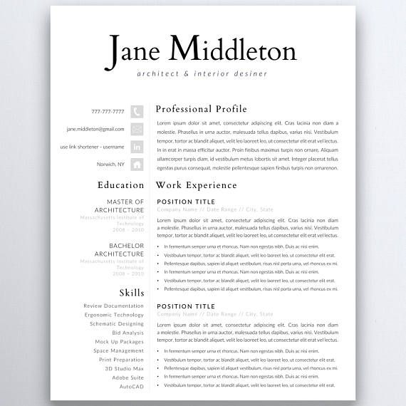28 best Modern Resume Templates images on Pinterest Modern - modern professional resume