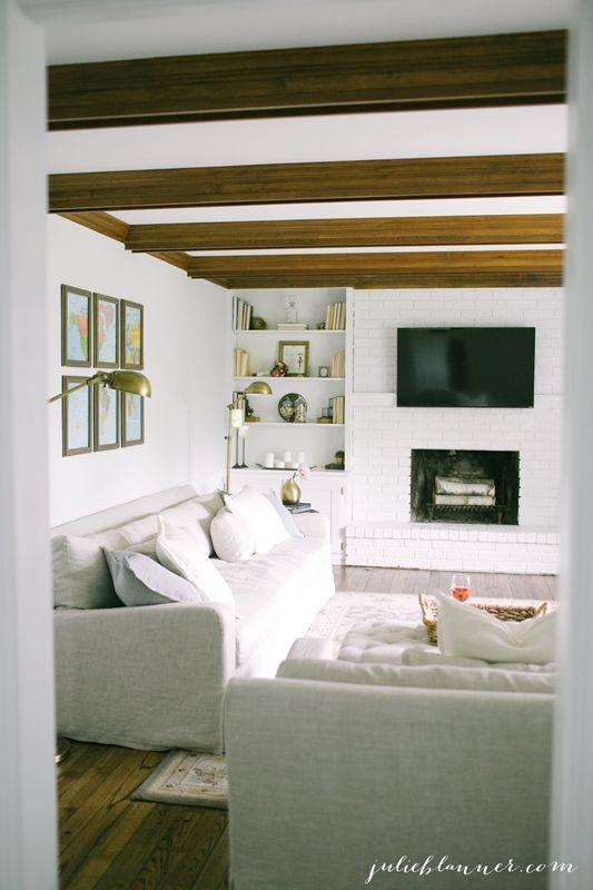 Beautiful Family Room at Julie Blanner Blog