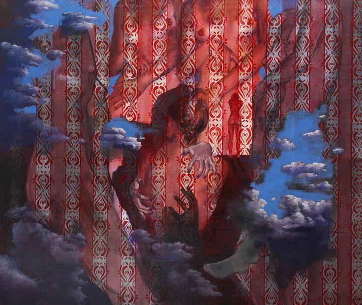 ''Zmysły'' Angelika Korzeniowska, olej na płótnie, 110  x130 cm,  2015 r