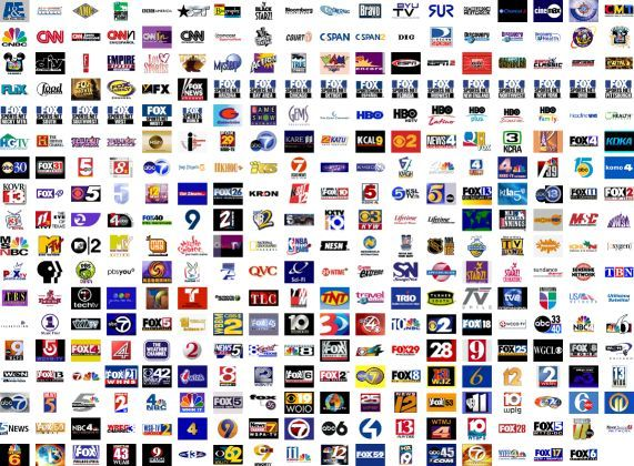 Network icons well programming network television channel logotypes