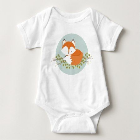 Sweet Woodland Fox Baby Clothes Baby Bodysuit - tap to personalize and get yours