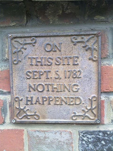 When walking around unfamiliar places, plaques like this one tell you a lot about the city you're visiting. Even if it's nothing.