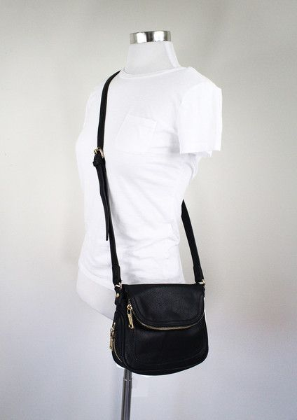 Jessie Black Crossbody Bag