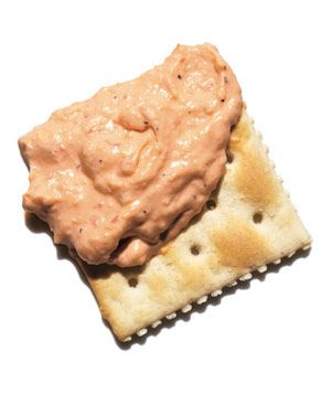 Pimiento Cheese and crackers- a regular snack for Johnny dixon
