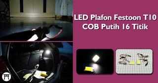 Takekimurah: LED Plafon Festoon T10 COB Putih 16 Titik