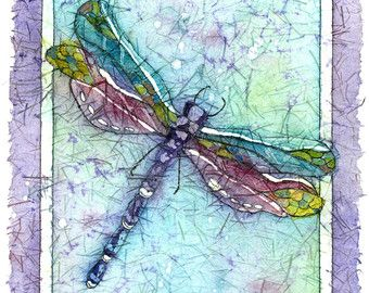 Dragonfly paintings | Etsy