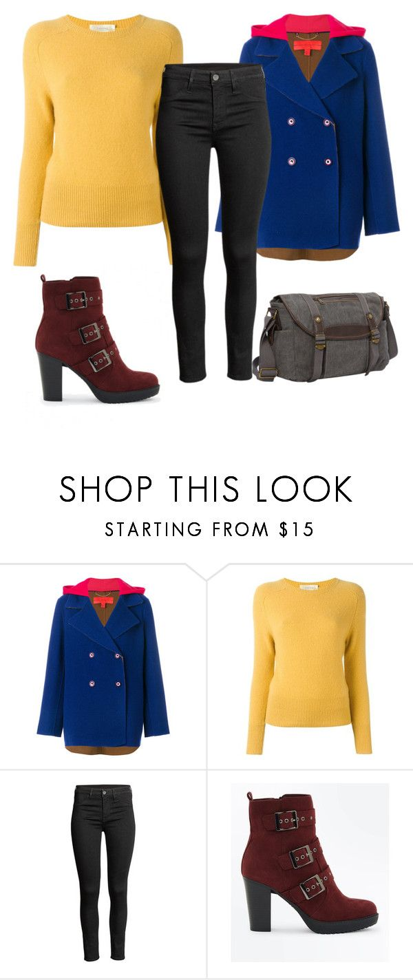 """""""Yellow Jumper"""" by morggie-jean ❤ liked on Polyvore featuring Hilfiger Collection, Zanone, New Look and Sun N' Sand"""