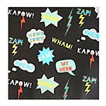 Kapow! Zap! Wham! These napkins pack a punch and will add fun to any super hero party! 16 napkins included. 13 x 13 inches.