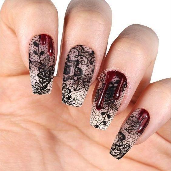 55 Amazing Halloween Nail Art Ideas in 2020 | Halloween ...