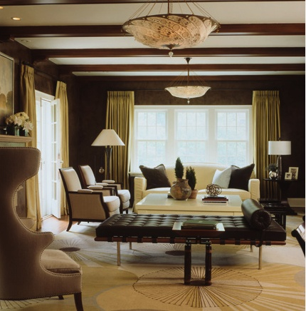Updated Tudor By Andrew Flesher Interiors Living Room