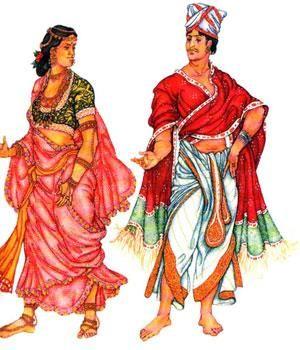 Древняя индия культура костюм мужской