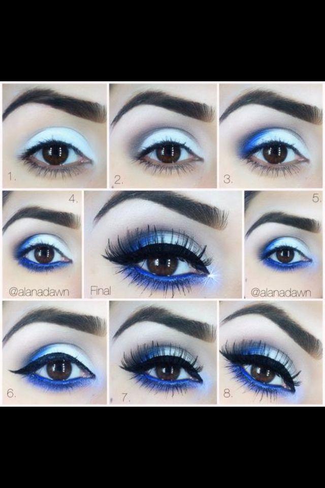 Maquillaje en tonos azules fríos!! Excelente para invierno