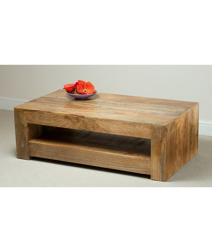 Achieve A Contemporary Yet Rustic Ambience With This Chunky Coffee Table From The Mantis Light Natural Solid Mango Range Crafted Wood Throughout
