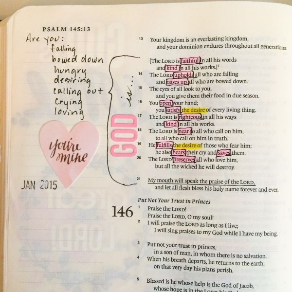 Debby Schuh | How to read and pull main ideas into the margin. | Illustrated Faith