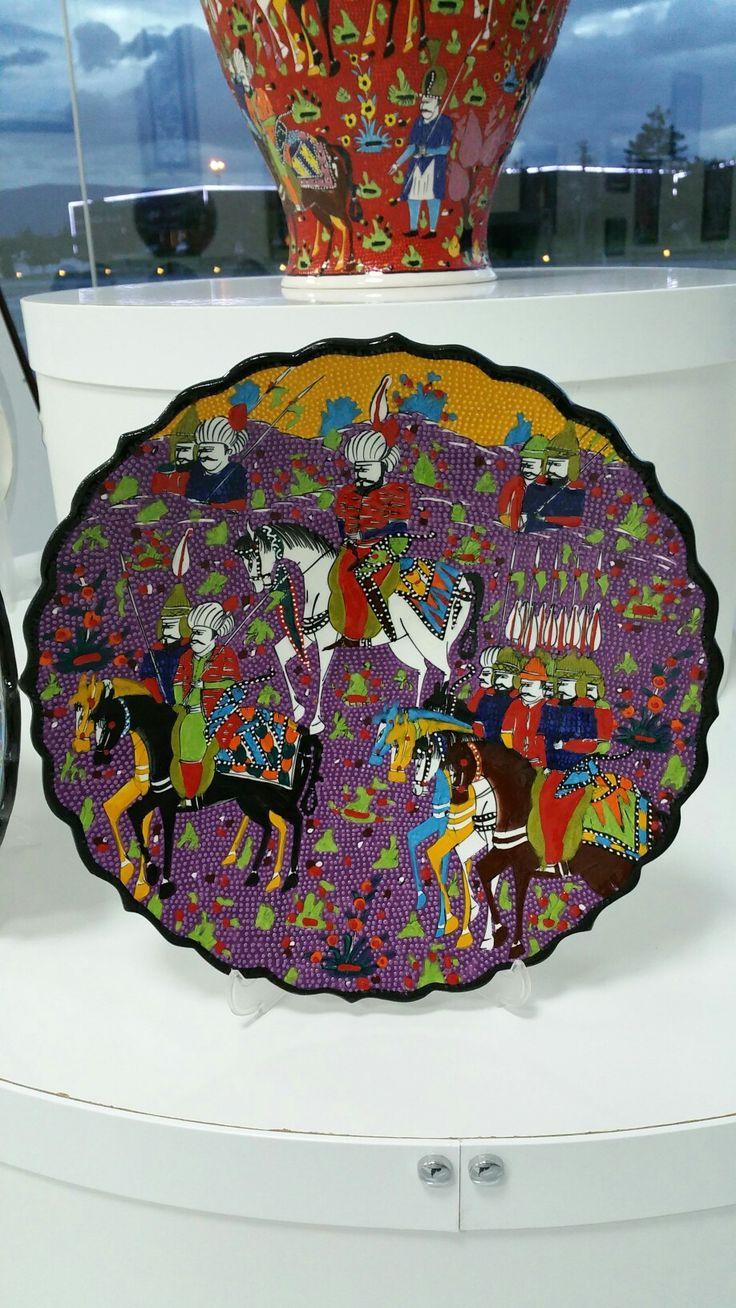 Armada çini osmanlı minyatür sanati 40 cm çini tabak