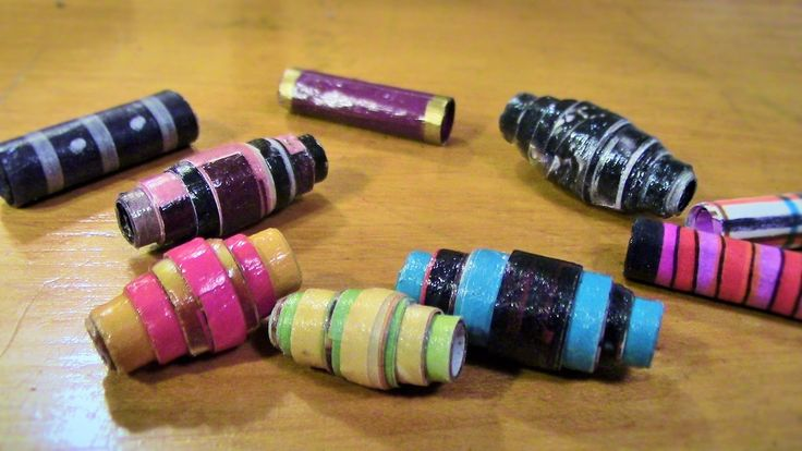 Paper Bead Tutorial - Make these pretty layered tapered paper beads usin...