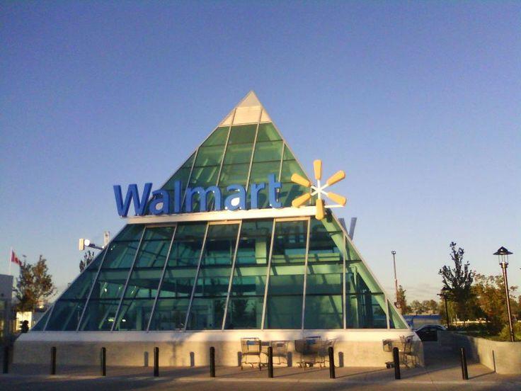 Wallmart Guildford mall 152 & 104th ave. Surrey BC Illuminati Pyramid with capstone
