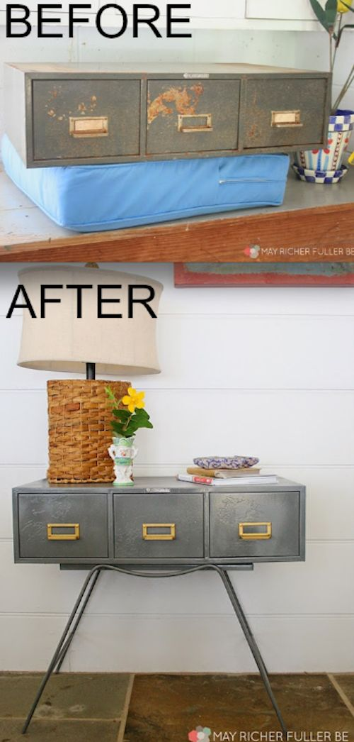 Or this old cabinet that bloomed into an accent table: | 19 Furniture Makeovers That Prove Legs Can Change Everything