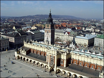 Krakow's landmarks, including its market square, have survived occupation and communism.