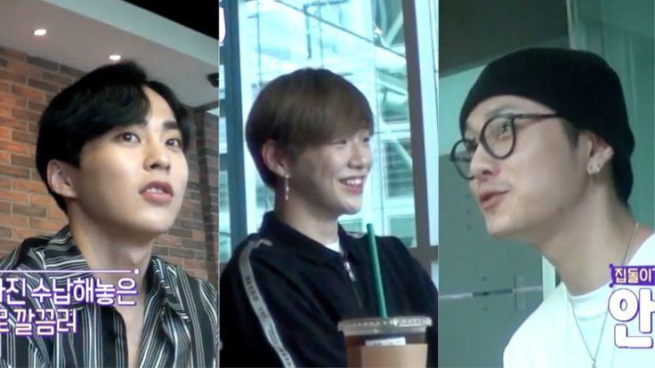 Xiumin, Kang Daniel y Yong Jun Hyung