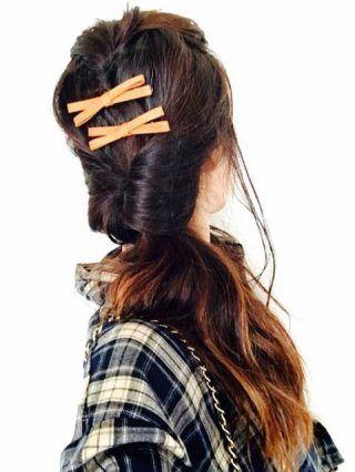 こんばんは今日、実はコーデ撮影前にヘアアレンジに挑戦してました!LINEブログの安西ひろこちゃんの記事を参考にせっせと前髪...|初心者でも簡単無料!ブログを作るなら CROOZ blog