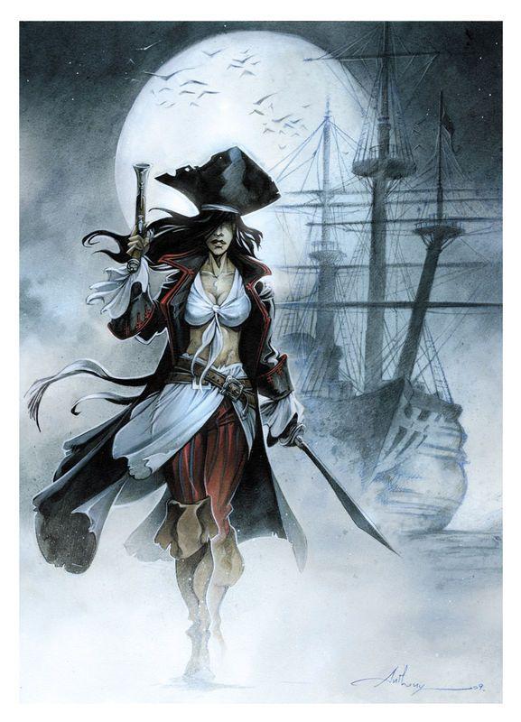 Pirates:  #Pirate Lass, Anthony Jean.