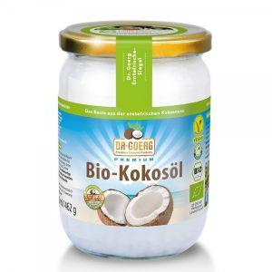 ULEI DE COCOS BIO DR.GOERG 462GR. Ulei de cocos pentru consum alimentar sau uz cosmetic. Magazin online cu o gama variata de alimente bio, miere de Manuka si cosmetice bio.