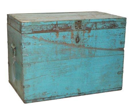 Baúl de madera vintage – turquesa