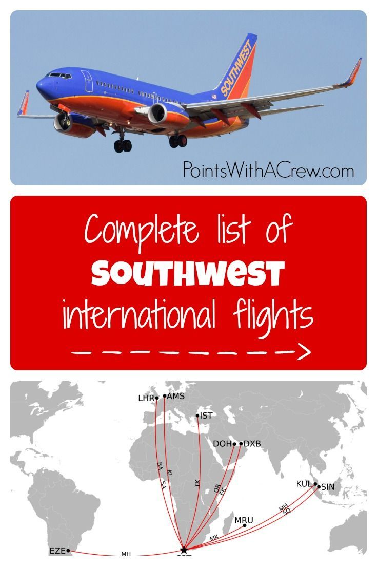 complete list of southwest international flights - where does