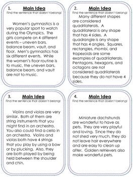 Printables Main Idea Worksheets 5th Grade 1000 images about main idea on pinterest texts graphic organizers and game cards
