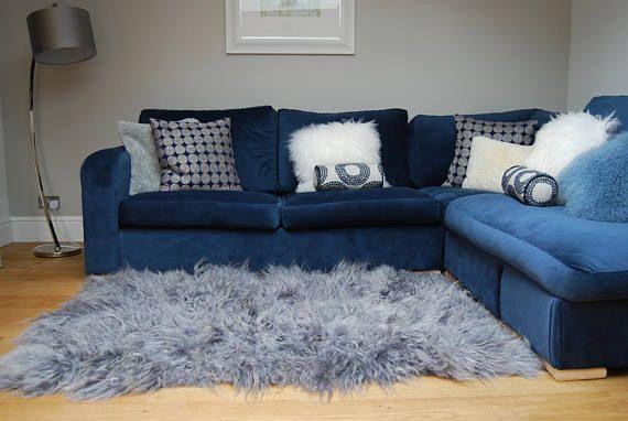 Large ! Silver grey gray  Icelandic sheepskin rug large sheepskin rug throw luxury carpet by Swedishdalahorse #TrendingEtsy