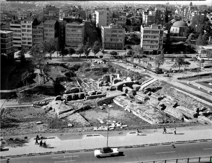 Saraçhane St.Polyeuktos kalıntıları / 1960'lar