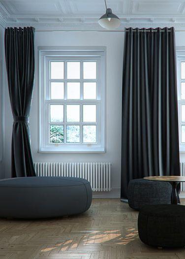 Living room design in flat, POLAND - archi group. Pokój dzienny w mieszkaniu w kamienicy.