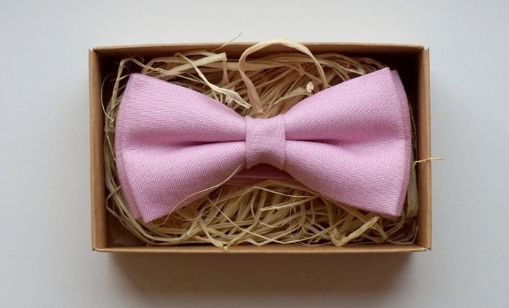 Dusty Pink bow tie /Blush Linen bow tie /Cheap bow ties /Bow ties for sale /Pre tied bow ties /Bow tie sale/Pink bow ties / Bow tie for men by ArtOfLithuania on Etsy