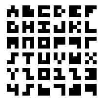 "i remember steve showing me something like this / ""the world's smallest typeface, 3x3 (2005)"" by Anders de Flon"