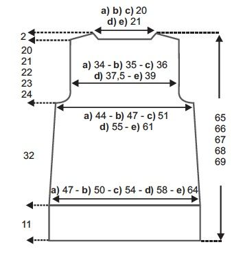 schéma-dos-gilet-point-de-riz-Phildar.jpg (354×378)