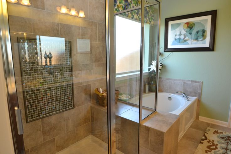 Large Master Bath With Garden Tub And Seperate Shower Bathrooms