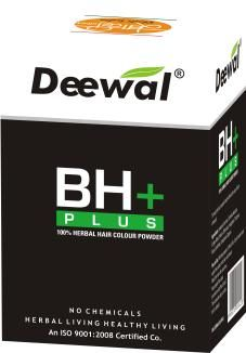 BH+ 100% Herbal Hair Colour Powder  Price: 110.00 Rs. Pack Size: 60.00 g