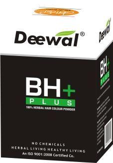 BH+ 100% Herbal Hair Colour Powder  Price: 110.00 Rs. Pack Size: 60.00 g