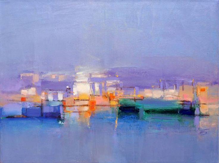 "Saatchi Art Artist Tatiana Bugaenko; Painting, ""Sea view."" #art"