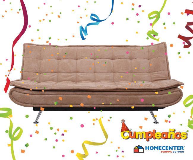 Permite que tus invitados disfruten de los mejores muebles, aprovecha el #CumpleañosHomecenter y sus cientos de productos a precios inigualables.