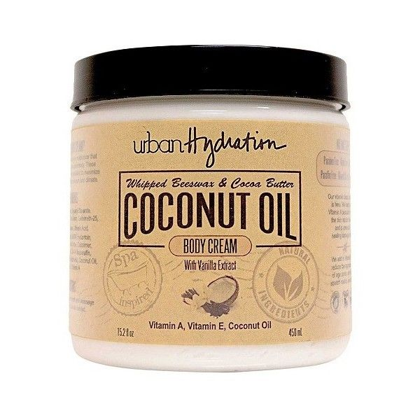Urban Hydration Coconut Oil Vanilla Extract Whipped Body Cream . oz (€11) ❤ liked on Polyvore featuring beauty products, bath & body products, body moisturizers, body moisturizer and body moisturiser