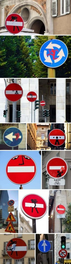 Street Art detournement Panneaux de signalisation 10