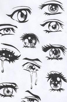 Изобр по > Как Рисовать Глаза Аниме Поэтапно