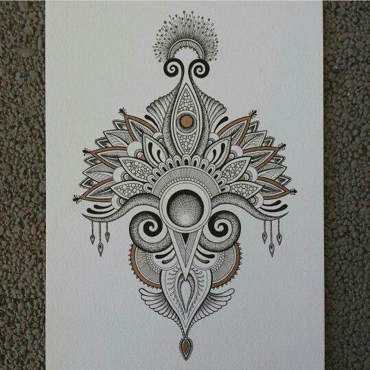 Beautiful henna inspired tattoo design by Anoushka Irukandji